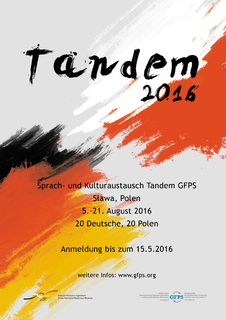 [Photo] Tandem-Plakat 2016 DE