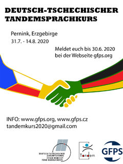 [Photo] Plakat deutsch-tschechisches Tandem 2020